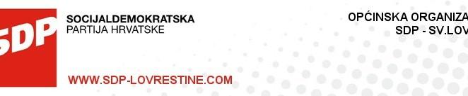 SDP Lovreštine: danas u 18 sati predizborni skup