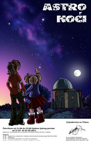 Astro večeri na Tičanu