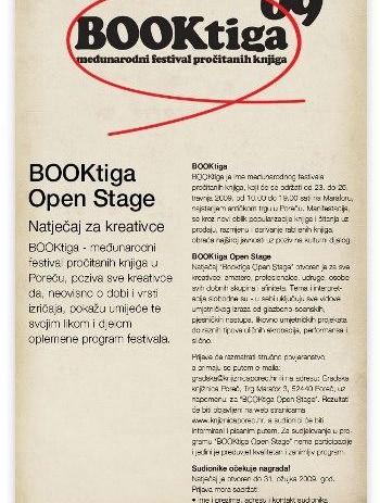 Booktiga open stage