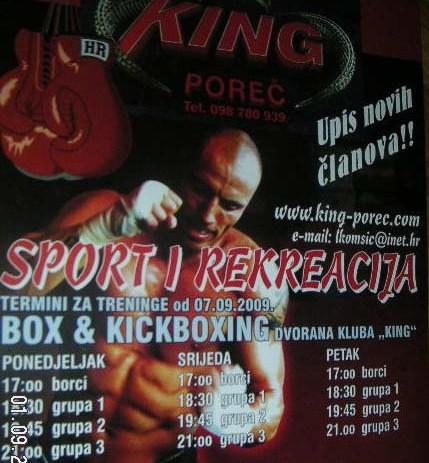 Upis novih članova u Thai kick box club King