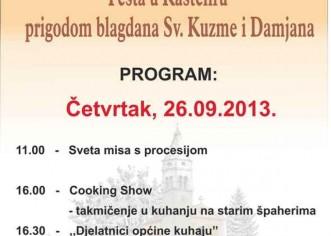 U četvrtak u Kašteliru proslava Sv.Kuzme i Damjana