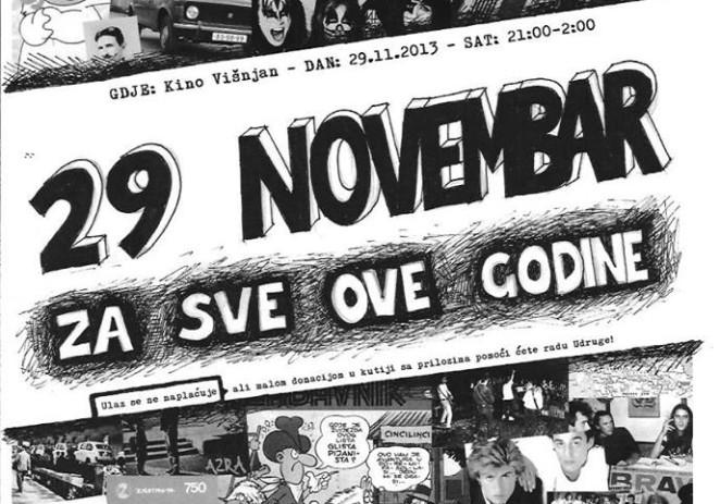 U Višnjanu u petak, 29. studenog, organizirano druženje uz domaću i stranu glazbu 70-ih, 80-ih i 90-ih godina
