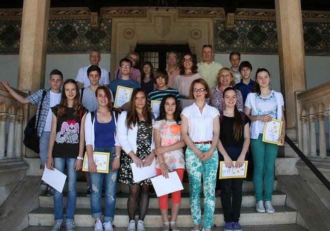Nagrađeni učenici OŠ Poreč kod zamjenice gradonačelnika, gđe Nadie Štifanić Dobrilović