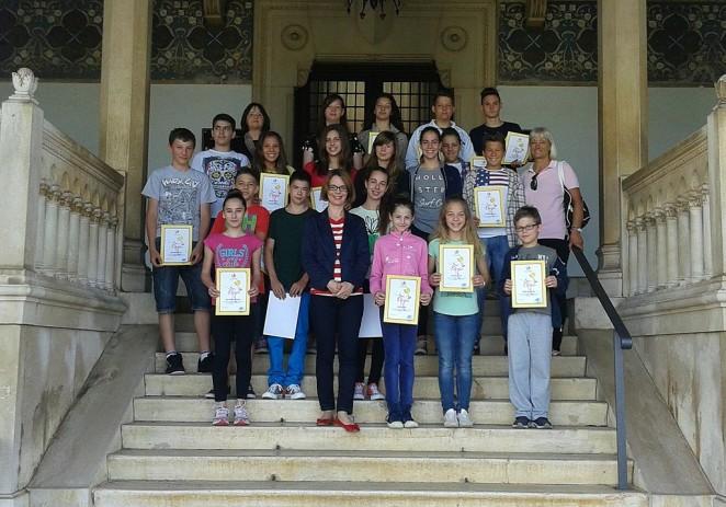 Nagrađeni učenici Talijanske osnovne škole Bernardo Parentin danas na prijemu kod dogradonačelnice Štifanić Dobrilović