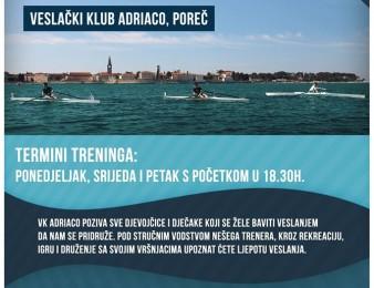 Veslački klub Adriaco Poreč – upisi u školu veslanja