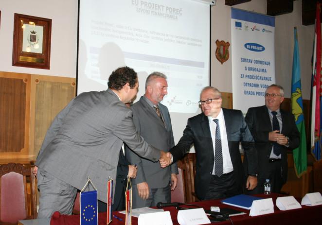 Potpisan prvi ugovor u sklopu provedbe Projekta Poreč – Sustav odvodnje i uređaji za pročišćavanje otpadnih voda