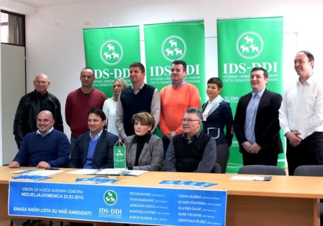 IDS Poreča predstavio kandidate za izbore za Vijeća mjesnih odbora