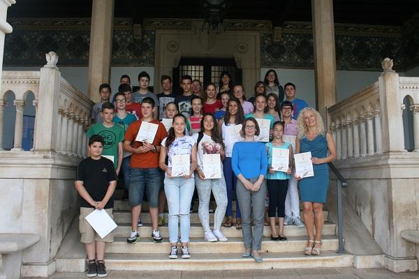 Nagrađeni učenici Umjetničke škole Poreč na prijemu kod dogradonačelnice