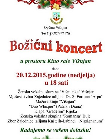 Koncert vokalne skupine Višnjanki i gostiju