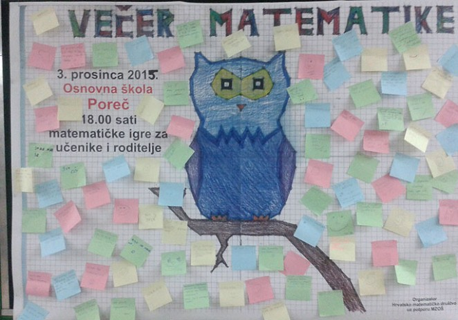 Večer matematike u Osnovnoj školi  Poreč –  Matematika koja se voli