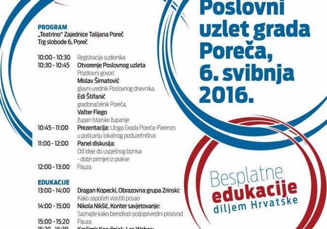 """""""Poslovni uzlet i Festival poduzetništva, obrta i OPG-a"""" 6. svibnja po prvi put u Poreču"""