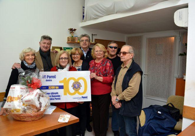 Lionsi Poreča uručili donaciju Udruzi slijepih IŽ – podružnica Poreč od 3200 kn