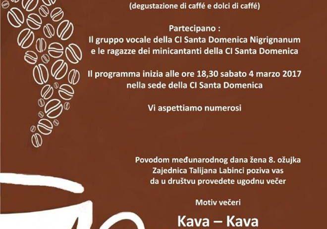 Caffe-Caffe, proslava Međunarodnog dana žena u Zajednici Talijana Labinci