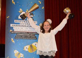 Harmonikaši Umjetničke škole Poreč na 42. Međunarodnom susretu harmonikaša u Puli postigli najbolji rezultat u povijesti Umjetničke škole Poreč