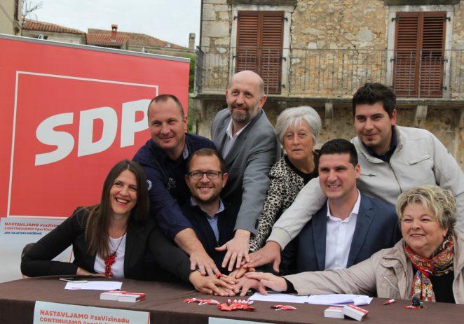 Predstavljeni kandidati i kandidatkinje izborne liste SDP Vižinada