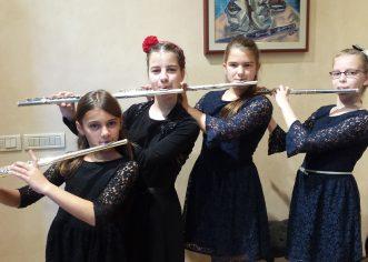 Mia Janko, Anči Mirjanić, Petra Radojčić i Tena Mihoković osvojile kao Kvartet flauta 1. nagradu u Rijeci