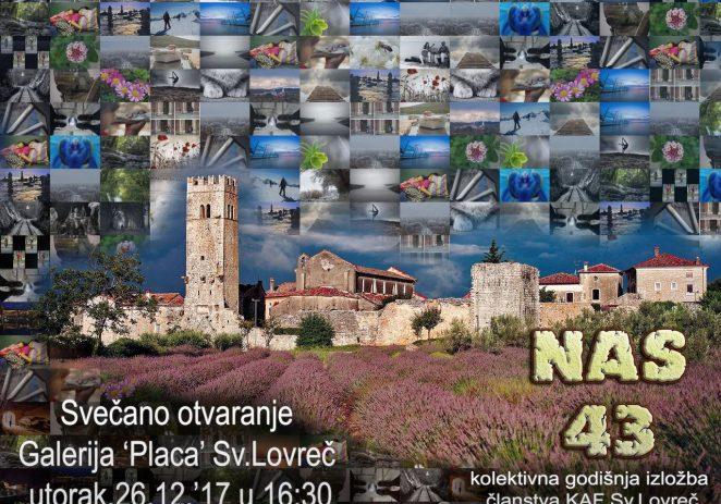 Otvorenje kolektivne godišnje izložbe članstva foto-udruge KAF iz Sv. Lovreča u utorak, 26. prosinca