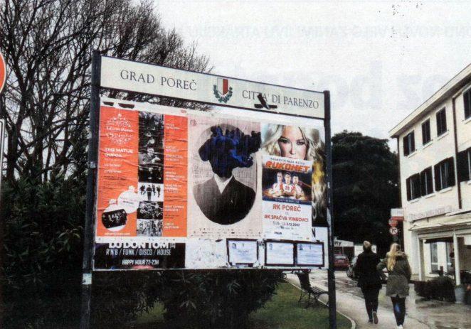 Hoće li Grad Poreč uvesti naplatu plakatiranja na oglasnim pločama ?