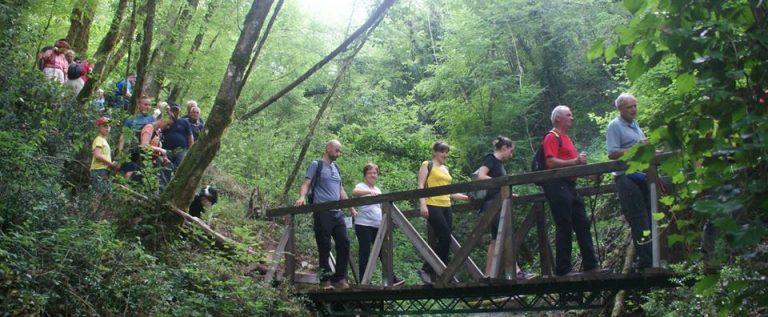 pješačenje preko mosta na stazi Malenica