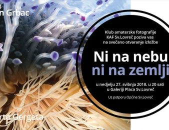 """U galeriji Placa u Sv. Lovreču od 27. svibnja izložba podvodnih fotografija """"Ni na nebu, ni na zemlji"""" Dušana Grpca i Roberta Gergete"""