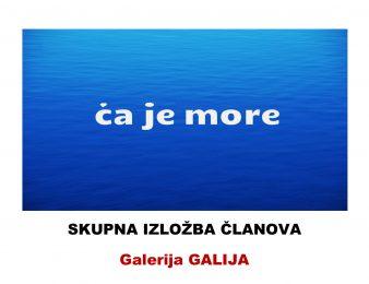 """Izložba LUPa """" Ča je more"""" u galeriji Galija"""