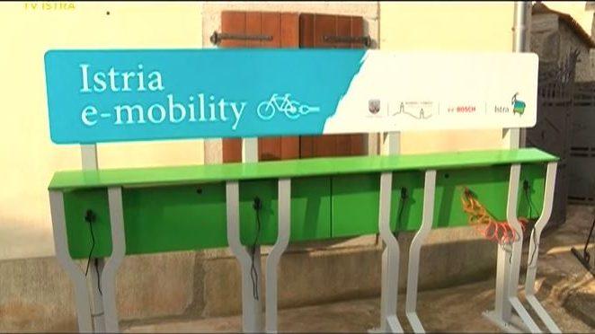 Općina Kaštelir-Labinci obogatila turistički sadržaj električnim punionicama za bicikle