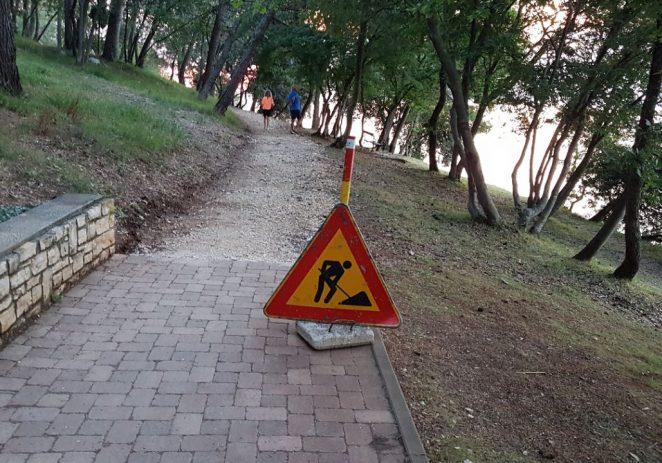 Nakon 40-ak godina rekonstrukcija pješačke staze oko hotela Delfin u Zelenoj laguni
