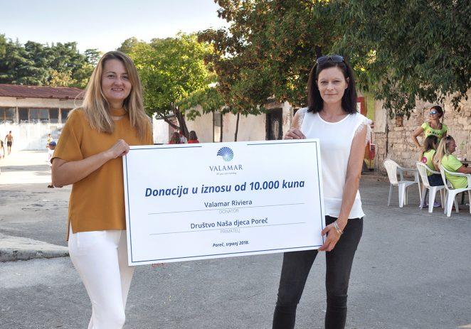 Valamar donirao 10.000 kuna i dodatna oprema za ljetne kreativne radionice Društva naša djeca Poreč