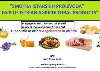 Druga Smotra istarskih poljoprivrednih proizvoda u Funtani