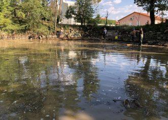 ČLANOVI DVD-a I UDRUGE VOLIM VIŠNJAN: Ispumpali vodu te bagerom očistili naplavine i mulj iz lokve