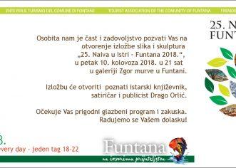 """Danas u Funtani započinje izložba slika i skulptura """"25. Naiva u Istri"""""""