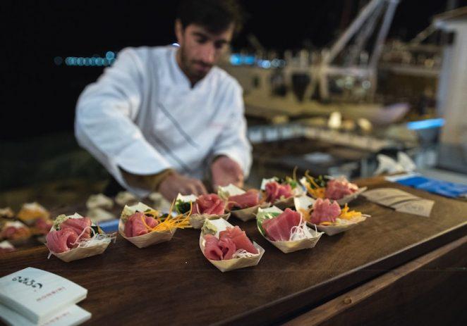 Chef Goran Hrastovčak, koji je učio kod Heinza Becka, u porečkom je Spinnakeru skuhao ambicioznu večeru od tune