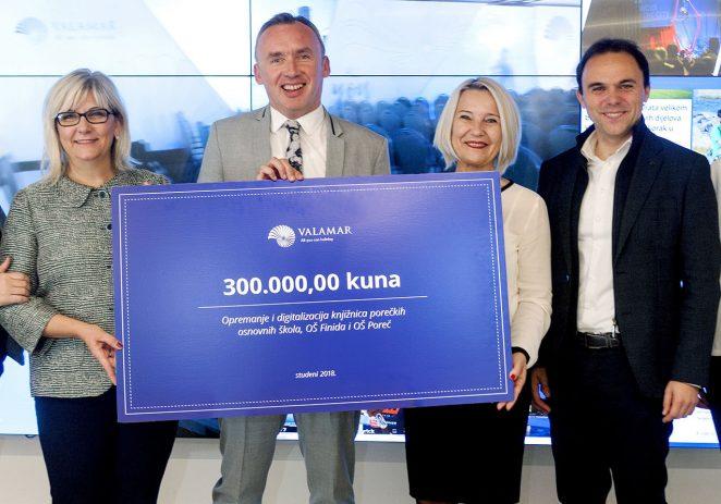Valamar donirao 300.000 kuna za digitalizaciju i opremanje školskih knjižnica u dvije porečke osnovne škole
