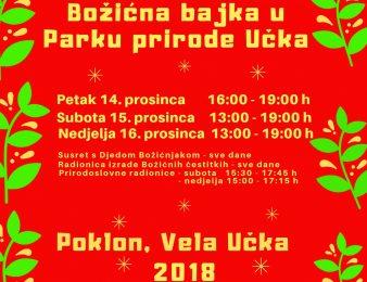 Božićna bajka u Parku prirode Učka od 13. do 16. prosinca !