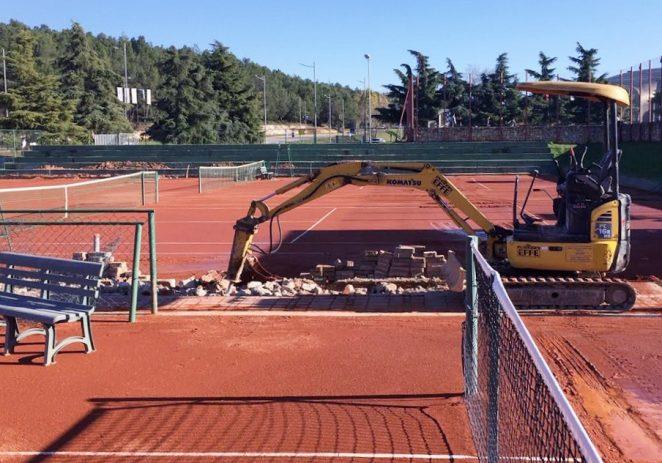 Postavlja se 14 reflektora na teniske terene uz OŠ Poreč, ubuduće mogući i noćni treninzi