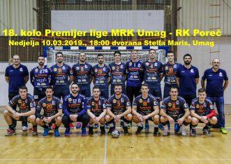 Najava utakmica RK Poreča za vikend 09./10.03.2019.