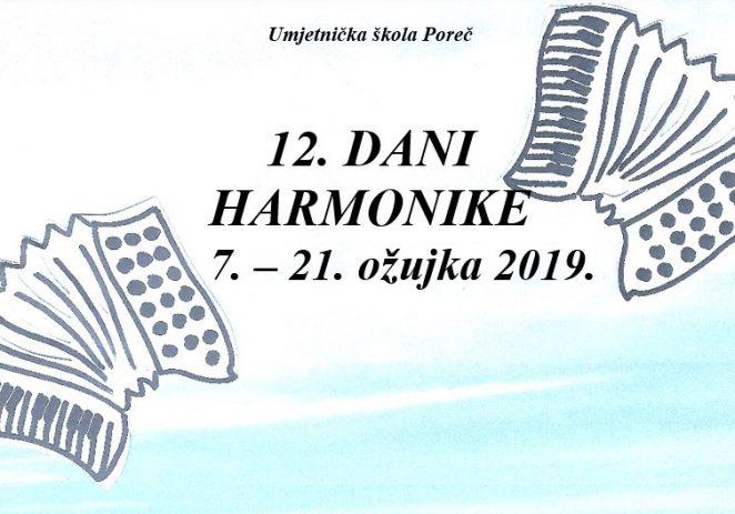 Dani harmonike u Umjetničkoj školi Poreč od 7. do 21. ožujka