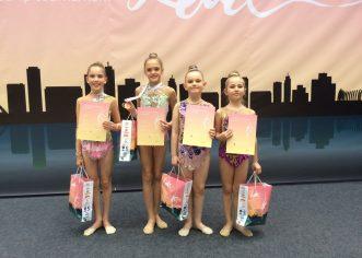 6 medalja gimnastičarkama KREG Galatea na Leda Cupu