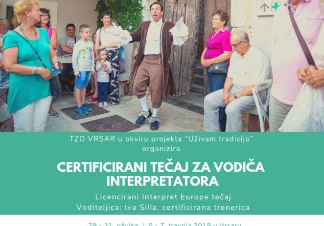 """Turistička zajednica Općine Vrsar organizira tečaj  """"Certificirani vodič interpretator"""""""