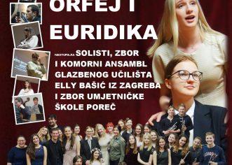 U utorak koncert učenika i učitelja Glazbenog učilišta  Elly Bašić, Zagreb i Umjetničke škole Poreč