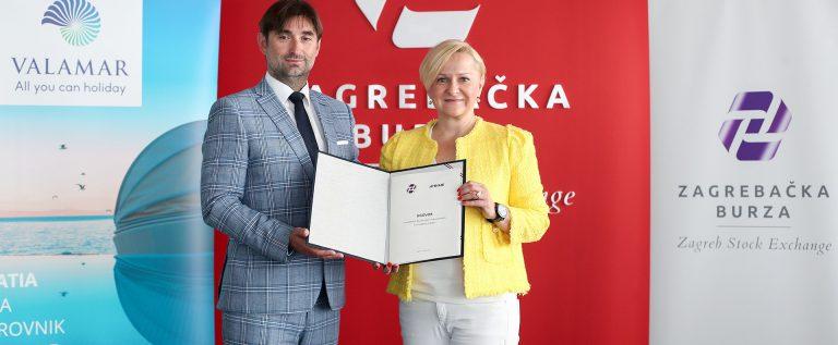 Predsjednica Uprave Zagrebačke burze Ivana Gažić i Marko Čizmek, član Uprave Valamar Riviere