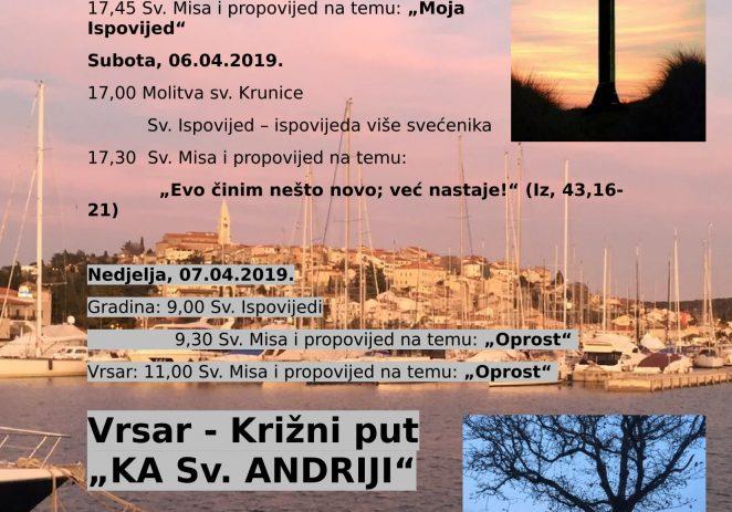 """5. – 7. travnja: Duhovna obnova i Križni put """"Ka sv. Andriji"""""""