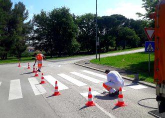 Obnavlja se vodoravna signalizacija na porečkim prometnicama