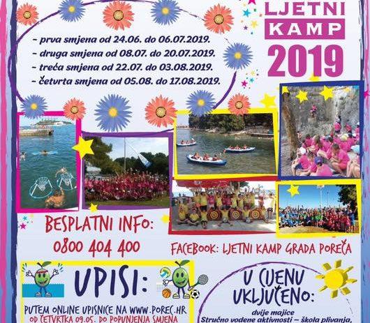 Ljetni kamp Grada Poreča-Parenzo – informacija o upisima
