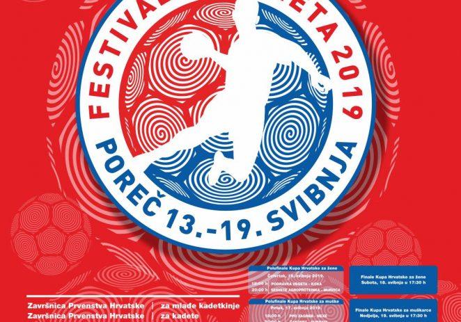 Festival rukometa u Poreču donosi završne susrete seniora i seniorki u 28. Kupu Hrvatske – finalne utakmice igraju se 18. i 19 svibnja