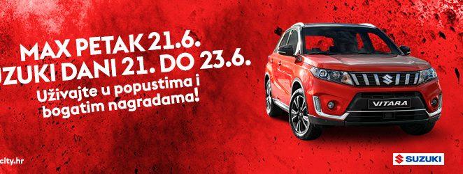 Ne propustite Max petak 21. lipnja i Suzuki vikend od 21. do 23. lipnja u najvećem istarskom trgovačkom centru Max City