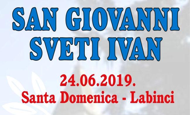 U ponedjeljak, 24.6.2019. u Labincima fešta povodom Svetog Ivana