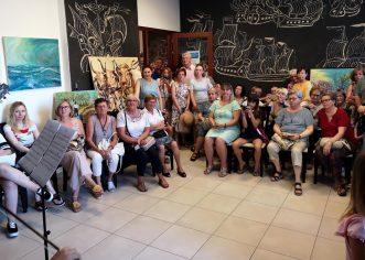 Brojna publika na otvorenju izložbe dr.med. Slavice Ezgeta u klubu Galija