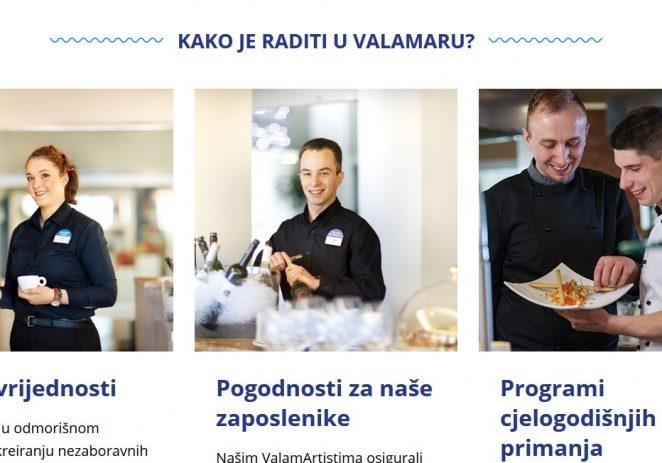 Valamar objavio novu web stranicu  dobarposaouvalamaru.com
