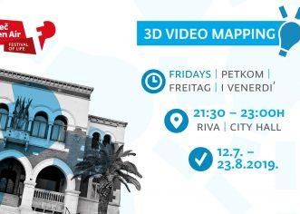 U sklopu Poreč Open Air Festivala ovog petka prva 3D mapping projekcija na zgradi Gradske vijećnice